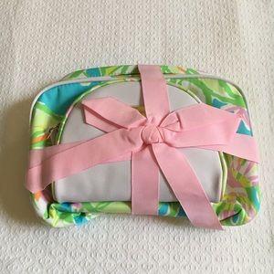 Lilly Pulitzer 2 Makeup Bag Set, Elephant Ears NWT